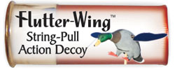 Action wing decoy; Flutter-Wing Sring pull action duck decoy
